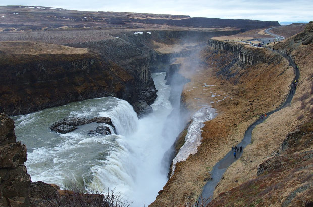 Gullfoss waterfall, the Golden Falls.